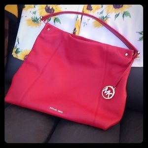 Michael Kor Red hobo bag